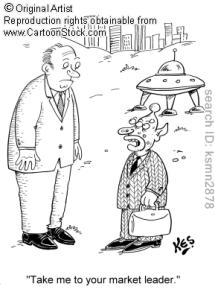 marketer extraterestru încercând o abordare umană